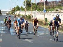 循环的竞争在布加勒斯特 免版税库存照片
