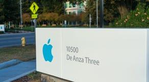 死循环的苹果计算机总部在库比蒂诺 库存图片