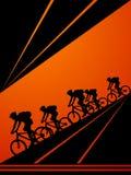 循环的骑自行车者 免版税库存照片