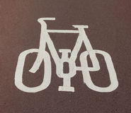 循环运输路线符号 免版税库存照片