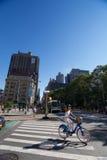 循环NYC的夫人 免版税库存图片
