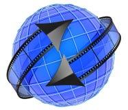 循轨道运行在地球附近的影片 皇族释放例证