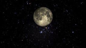 循轨道运行通过星的月亮 皇族释放例证