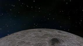 循轨道运行通过空间的月亮 股票录像