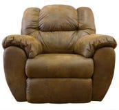 微可躺式椅摇摆物绒面革 免版税库存照片