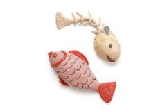 微型两条鱼模型 免版税库存照片