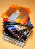 微型五颜六色的光盘 图库摄影