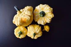 微型五颜六色的南瓜在市场 图库摄影