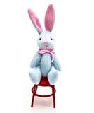 微型兔宝宝的椅子 库存图片
