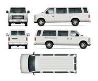 微型公共汽车传染媒介模板 皇族释放例证