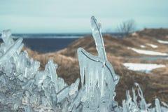 微型冰岛-冰冷的雨 库存照片
