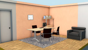 微型办公室内部 库存照片