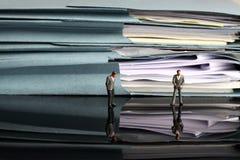 微型商人文书工作文件 图库摄影