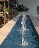 微型喷泉在保利斯塔 免版税图库摄影