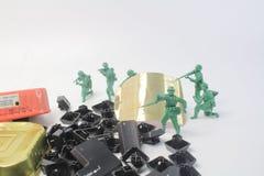 微型图战士乐趣在显示的 免版税库存图片