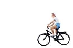 微型图被隔绝的乘驾自行车在白色背景 免版税图库摄影