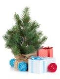 微型圣诞树 免版税库存照片