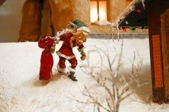 微型圣诞节村庄 免版税图库摄影