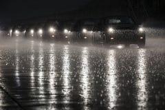 微型在雨中 库存照片