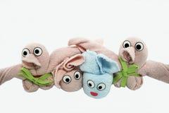 微型形状的毛巾 免版税库存照片