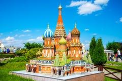 微型微型圣徒蓬蒿的大教堂 库存图片