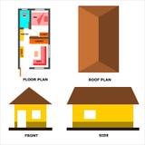 微型房子设置了1个例证 库存例证