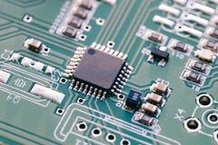 微型控制器-技术电路板 库存照片
