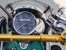 微型摩托车车速表  免版税库存照片