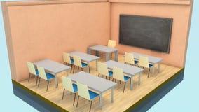 微型教室 图库摄影