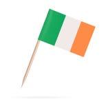 微型旗子爱尔兰 背景查出的白色 免版税图库摄影