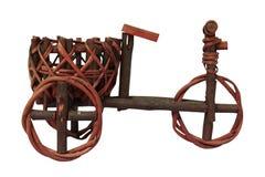 微型木三轮车模型工艺,被隔绝 图库摄影