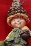 微型木玩偶特写镜头 免版税库存照片