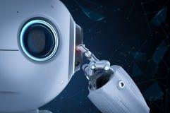 微型机器人认为 免版税库存照片