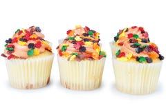 微型杯形蛋糕 库存照片