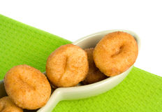 微型桂香的油炸圈饼 库存图片