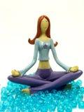 微型模型位置瑜伽 库存照片