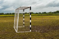 微型橄榄球的门 免版税库存图片