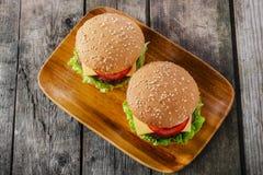 微型汉堡包 图库摄影