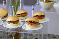 微型汉堡 免版税库存照片