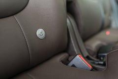 微型汽车位子商标 免版税库存图片