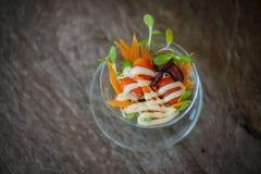 微型沙拉 免版税图库摄影