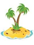微型海岛 免版税库存照片