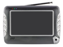 微型现代集电视 免版税库存图片