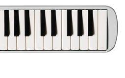 微型琴键 音乐平的背景 图库摄影