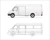 微型的公共汽车 图库摄影
