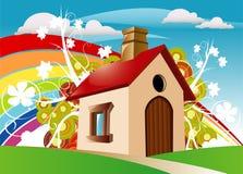 微型的房子 库存照片