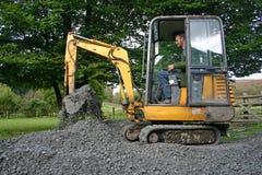微型的挖掘者 免版税库存照片