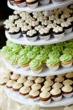 微型的杯形蛋糕 免版税库存照片