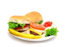 微型的汉堡包 库存照片