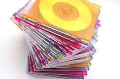 微型的cds 库存图片